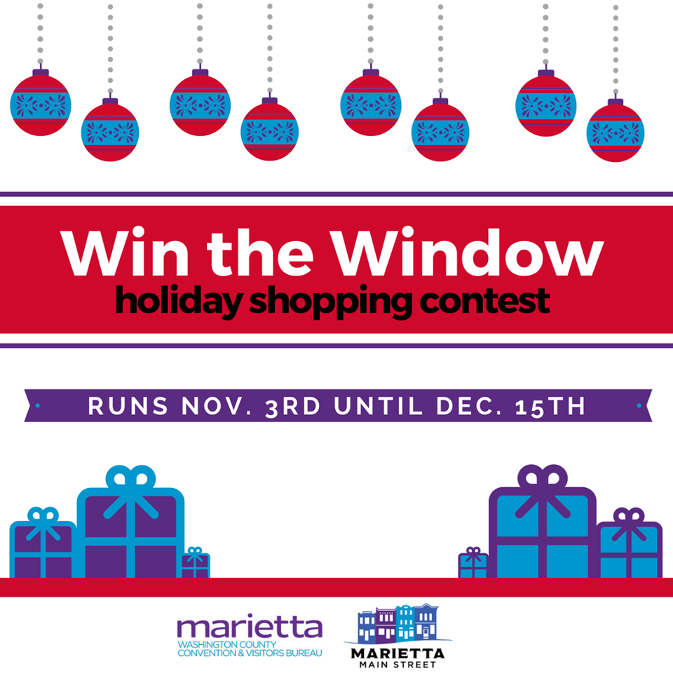 Win the window at the Marietta-Washington County Convention and Visitor Bureau!