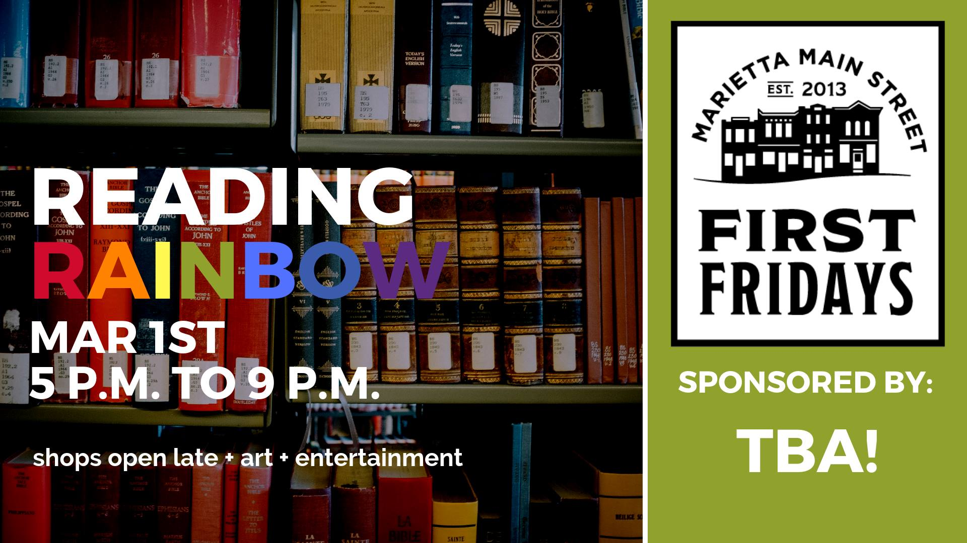 First Friday: Reading Rainbow