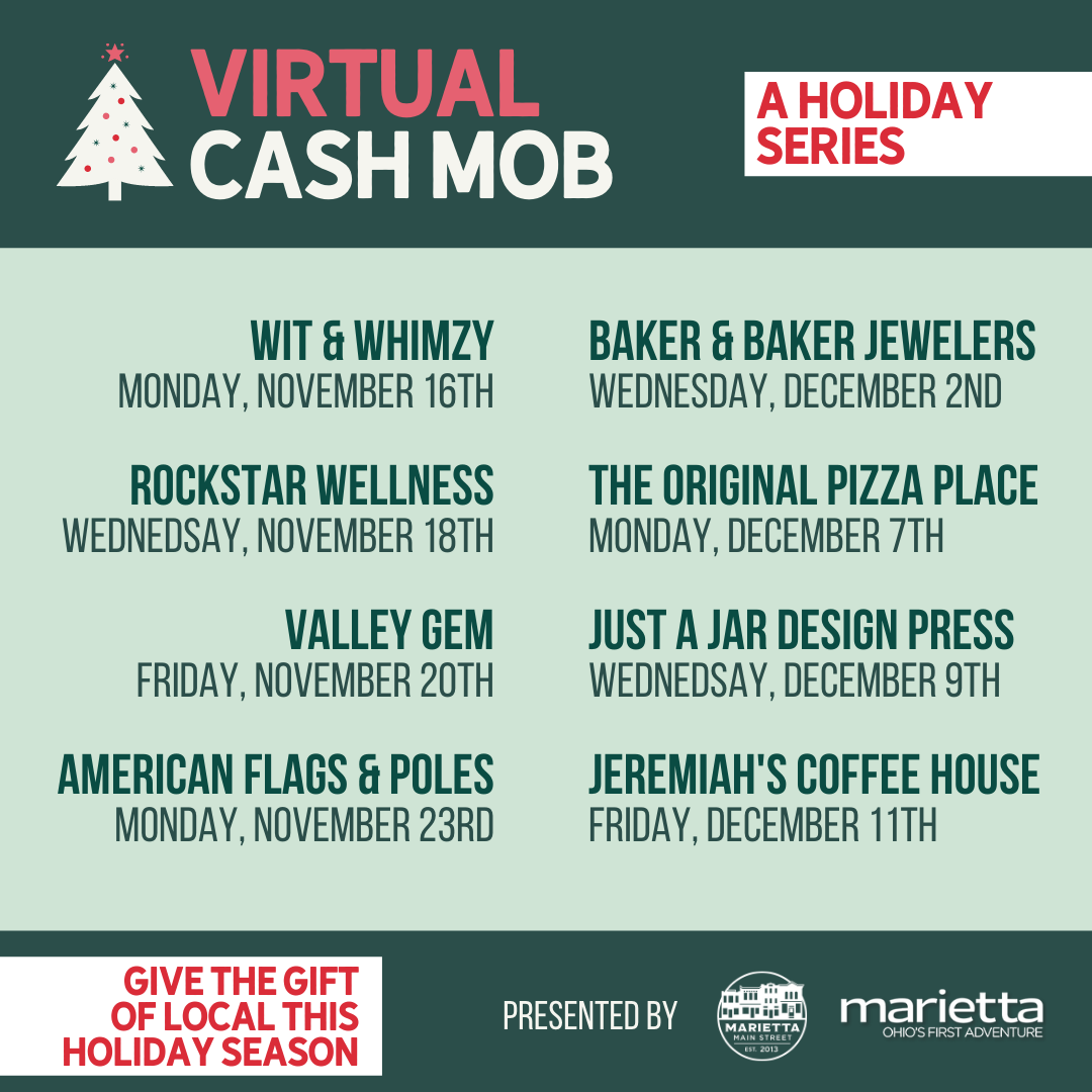 Virtual Cash Mob featuring American Flags and Poles