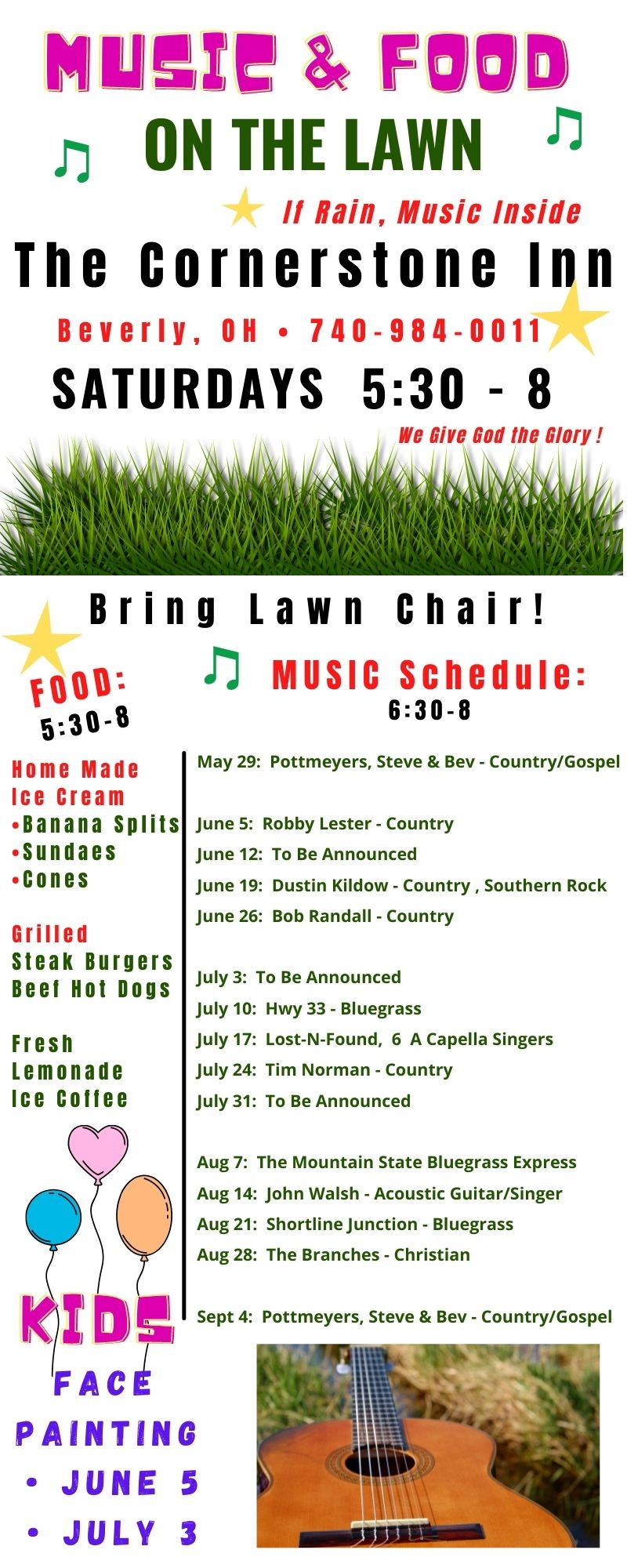 Music and Food on the Lawn-Cornerstone Inn, Beverly